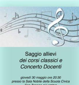 Saggio allievi dei corsi classici e Concerto Docenti