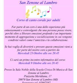Corso di canto corale per adulti